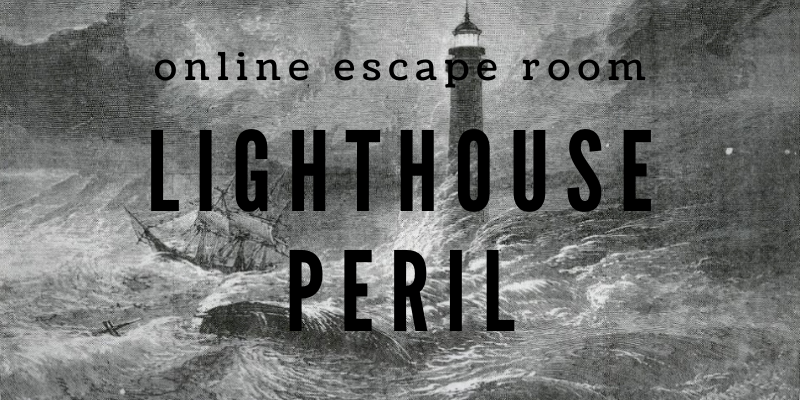 online escape room lighthouse peril poster