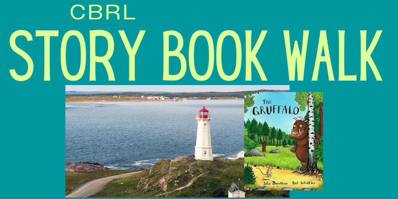 Louisbourg Lighthouse with book cover of The Gruffalo