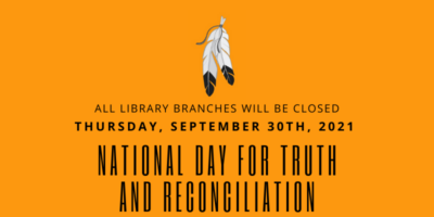 Eagle feathers on orange background National Day for Truth and Reconciliation September 30 2021